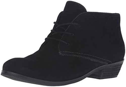 Softwalk Women's Ramsey Boot, Black Suede, 8 W US (Boot Front Lacing Ankle)