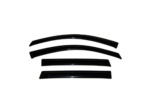 Auto Ventshade 94109 Original Ventvisor Side Window Deflector Dark Smoke, 4-Piece Set for 2009-2018 Dodge 1500 Crew Cab, 2010-2018 Ram 2500 & 3500 w/Crew & Mega Cab; 2019 Ram 1500 Classic Crew Cab (Rain Guard Visors)