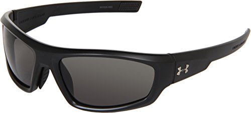 (Under Armour UA Power Oval, Satin Black Frame/Gray, 60mm Lens Width/130mm Arm/35mm Bridge)