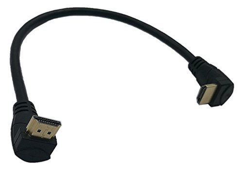 CGTime 1 Feet HDMI Up to Down Angle 90 Degree Vertical Right Cable -Supports 4K@60Hz, High Speed, HDMI 2.0 Ready - UHD, Ethernet & Audio Return - Video 4K 2160p, HD 1080p, 3D.(Male-Male)