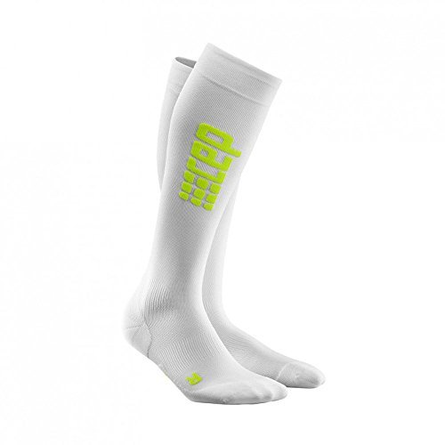 CEP Ultralight Run Socks Compression Socks Men's - White/Green, 12.60-14.96 by CEP by CEP