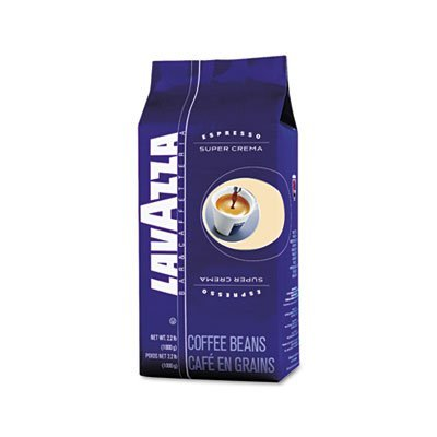 Lavazza LAV4202 Super Crema Espresso Coffee Beans, Italian Bar and Cafeteria (Pack of 6) by Lavazza