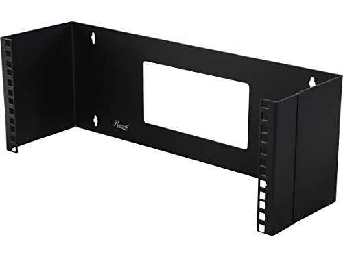 Rosewill 4U 19 Inch Steel Wall Mount Hinged Server Bracket with 6 Inches Deep and Hinge Design for Easy Asscess for Network Switches and Routers (Back Office Small Business Server)