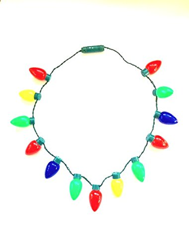 Gloworks Flashing Christmas Bulb Necklace (Flashing Necklace)
