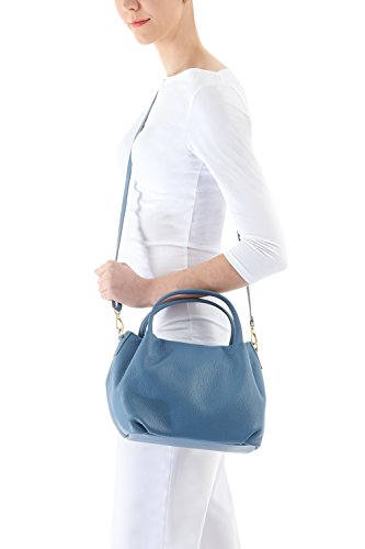 Di Italian Bucket Body Bag Jinne Cross Montte Shoulder Leather Navy Women's PqdwXCE