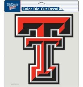 (WinCraft NCAA Texas Tech University 80713010 Perfect Cut Color Decal, 8