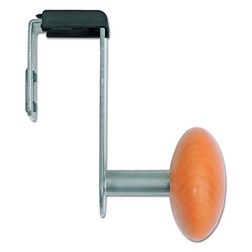 - Alba PM1PARTBO Cubicle Garment Peg, 1 Hook, 1 1/5 x 1 3/8 x 4 3/10, Metallic Grey