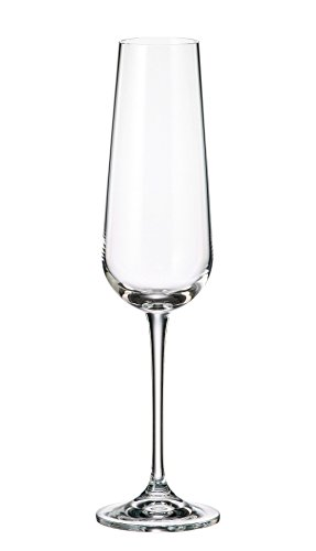 Collection Drinkware Crystal (Crystalite Bohemia - Lead Free Crystal Wine Glasses Amundsen Stemware Collection, Set of 6 (Champagne Flute Glass 7oz. (220ml)))