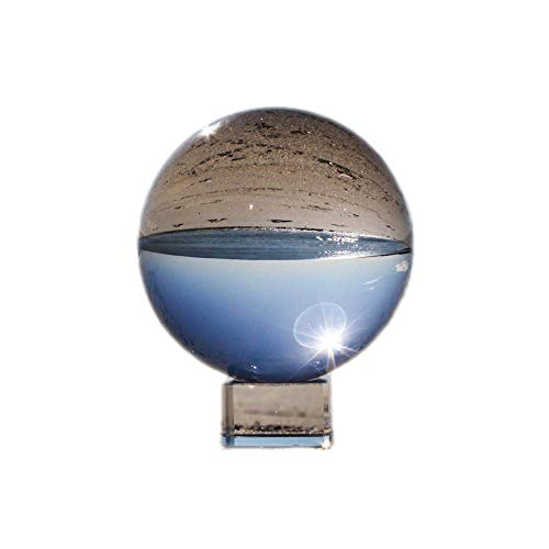COCOScent Clear Crystal Ball, Art Decor K9 Crystal Prop for Sphere Photography Decoration (80mm(3.15'')_K9 Clear with Stand) by COCOScent