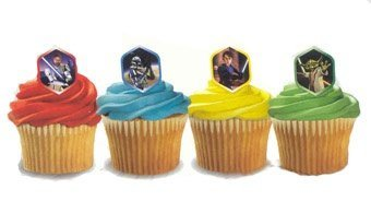 Star Wars The Clone Wars Party Cupcake Rings 12 Pack