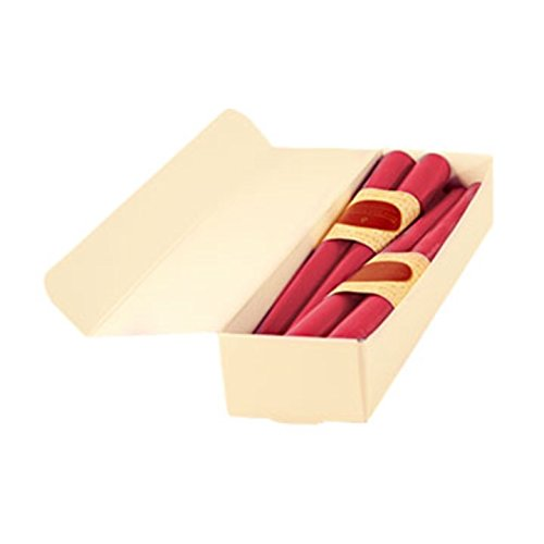 12' Dinner Candles - Honey Candles Pure Beeswax 12'' Taper - Paris Pink- Set of 8, 8 Piece
