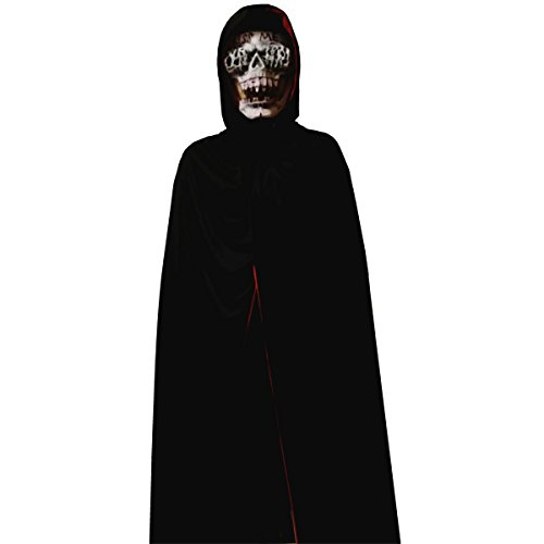 Halloween Costume Party Kiss me Mask + Black/Red Cloak for Horror (The Kiss Halloween Costume)