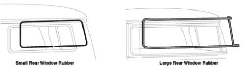 Precision Automotive 55-66 Chevy//GMC Truck Back Rear Window Glass Gasket Rubber Seal w//Black Trim