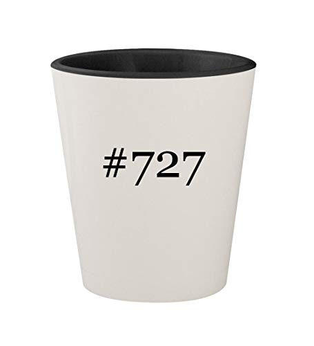 #727 - Ceramic Hashtag White Outer & Black Inner 1.5oz Shot Glass ()