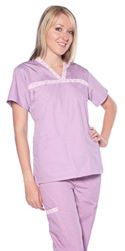 Dress a Med Women's Designer Scrubs Plum XL
