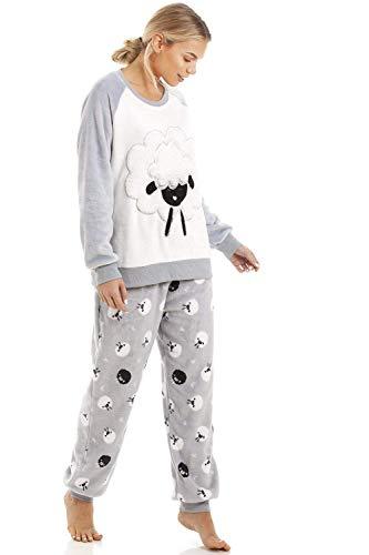 Camille Character Set Fleece Sleepwear Home Supersoft Grey l Velour Light Sheep Pijama 1g5nFwq7
