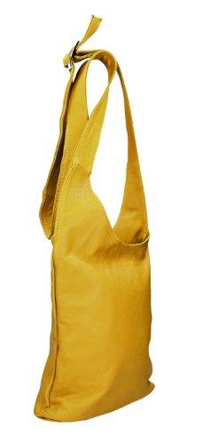Cuir de le en nbsp;x 28 Croix IO Ital nbsp;cm nbsp;x 5 Sac 24 avec 8 Couleur Borsetta Icone® IO Bandoulière Femme MIO nbsp;x 28 per x Yellow D Choix pour Nappa 5 à H W x wO6qxUI