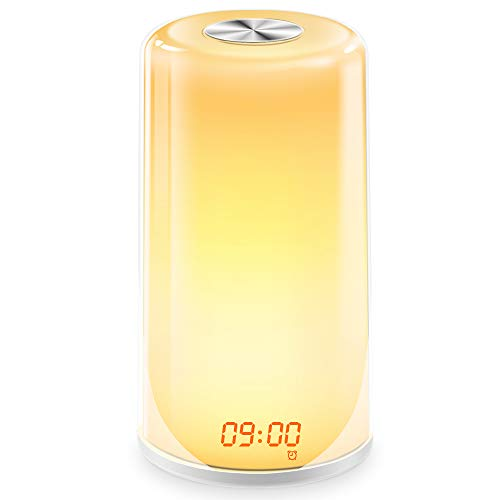 Wake-Up Light Alarm Clock- Sunrise Simulation Digital LED Clock with