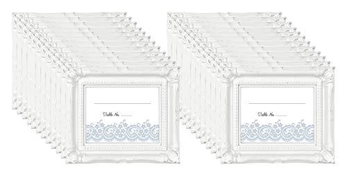 (MCS Frames Wedding Photo Frame/Placecard Holder, 69040, 24-Pack, White)