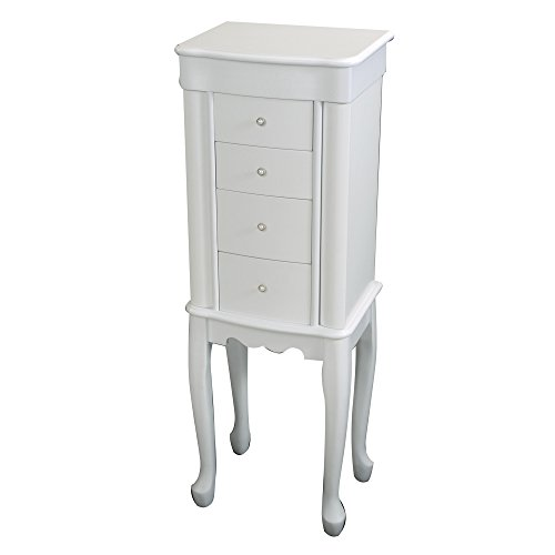 Mele & Co. White Alexis Jewelry Armoire - 13W x 37H in. by Mele & Co.