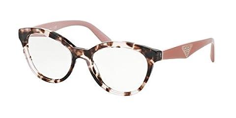 Prada TRIANGLE PR11RV Eyeglass Frames ROJ1O1-52 - Pink Havana PR11RV-ROJ1O1-52 - Tortoise Plastica Occhiali