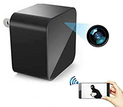 Wifi Security Camera USB Wall Charger, Motion Detection Wireless Nanny Cam . Compatible to Iphone / Android, Surveillance Camera, Spy Camera Adapter 1080 Full HD, Up to 64GB SD Memory Card from Meta-Lens