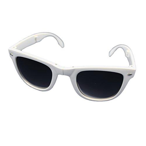 Pliable Noir Lunettes ombres soleil avec UV400 blanc unisexes protection Unisexe Pliable de gWvwUxdqzz