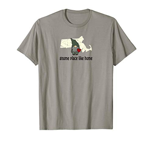 Gnome Place Like Home Massachusetts T-Shirt