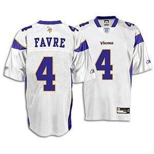 online store 44208 2c118 Amazon.com: Brett Favre Replica Reebok White Vikings Jersey ...