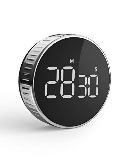 Digitaler Küchentimer mit Magnethalterung, HOMMINI Küchenwecker Kurzzeitwecker Magnetisch LCD-Bildschirm, Kurzzeitmesser Eieruhr, Ideal Küchenuhr Timer zum Kochen, Backen, Sport, Studieren usw