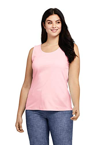Lands' End Women's Plus Size Cotton Tank - Bras Womens Lands End