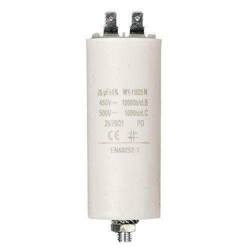 Condensador de arranque para motor electrico 25.0 uF 450 VAC, Cablepelado®