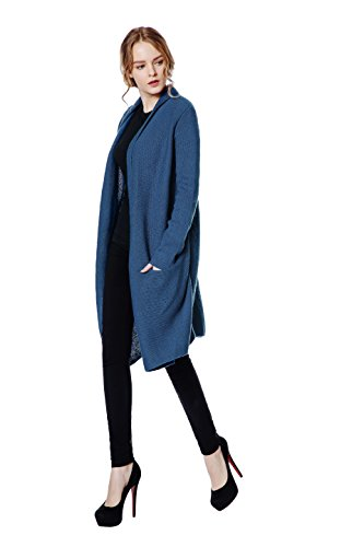 Metme Women's Long Sleeve Open Front Cardigans Solid Basic Knitwear Wool Sweater Knit - Sweater Wool Coat
