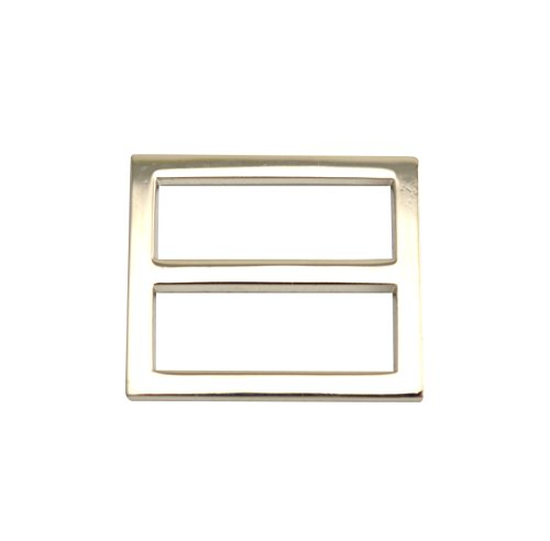 """Wuuycoky 1"""" Inner Length Silvery Zinc Alloy Closed Angle Rectangle Buckle Curved Tri-Glide Slider Adjustable Ring Pack of 10"""
