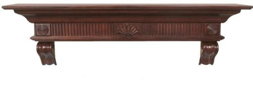 (Pearl Mantels 416-60-70 Devonshire Fireplace Mantel Shelf, 60-Inch, Distressed Cherry)