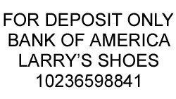 Custom For Deposit Only Stamp (4 Lines)