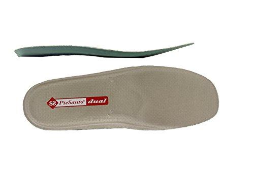 Calzado mujer confort de piel Piesanto 7976 zapato abotinado casual cómodo ancho Negro/Charol