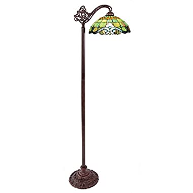 River of Goods 10942 60.5-Inch H Tiffany Style Vivaldi Side Arm Floor Lamp