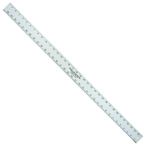 Kraft Tool SLASE36T, 36'' x 2'' x 3/16'' Aluminum Straightedge Ruler, Pack of 20 pcs