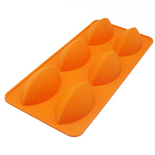 X-Haibei Dumpling Jello Butter Mold Cake Chocolate Ice Cream Football Gelatin Soap Making Silicone Mold Supplies (Soap Football)