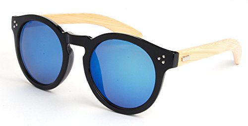 Frame Man's Gafas sol Wood casual Azul Cycle K de All Moda 5 4023 Vintage Woman Bamboo gdqwHgRX