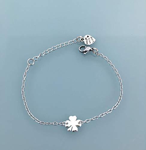 meilleur service 66800 173f0 Bracelet trèfle bracelet porte bonheur, Bracelet gourmette ...