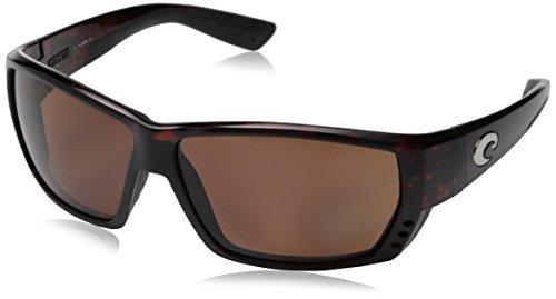 Costa Del Mar TA 25 Tuna Alley White Square Sunglasses for Mens - Size 580G (Blue Mirror Lens) by Costa Del Mar (Image #1)