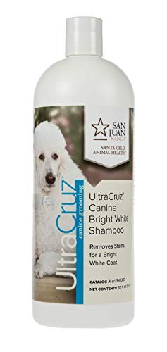 UltraCruz Dog Bright White Shampoo, 16 oz (Brightener Coat Light Color)