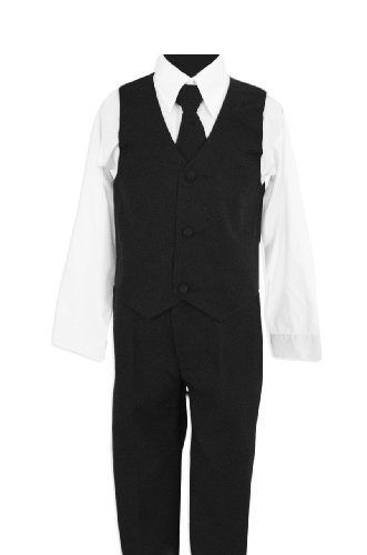 Black Suit with Tie for Boys of All Ages.