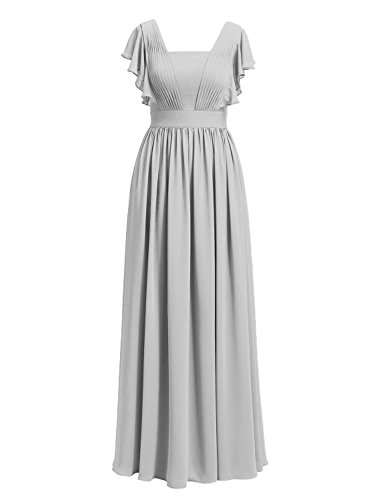 Long Bride Wedding Of Formal The Silver Evening Gowns Prom Mother Dresses Chiffon Cdress nAq6aB6