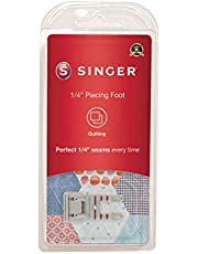 SINGER 1/4-Inch Piecing Snap-On Presser Foot for Low-Shank Sewing Machines, Silver (2500267)