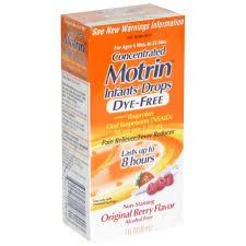 Concentrated Motrin Infant's Drops Dye-Free for Ages 6 to 23 months Berry Flavor (1 Box (Dye Free Berry Flavor)