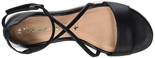1 003 Femme 3 Noir Sandales Leather Plateforme black 1 Tamaris 28030 32 Sdq77Bw