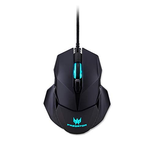 Acer Predator Cestus 500 RGB Gaming Mouse Dual Omron switches 70M Click Lifetime, Customizable ambidextrous and Ergonomic Design, On Board Memory and programmable Buttons